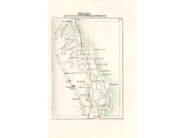 ROAD ATLAS Illustrations of the Roads throughout Bengal including those to Madras and Bombay...to which is added the Latitudes and Longitudes of all the Principal Places