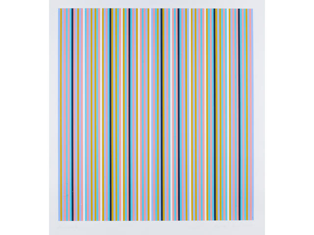 Bridget Riley (British, born 1931) Brouillard Screenprint in colours, 1981-2003, on wove, signed, dated, titled and numbered 17/85 in pencil, printed by Artizan Editions, Hove, 785 x 720mm (30 7/8 x 28 1/4in)(I) unframed