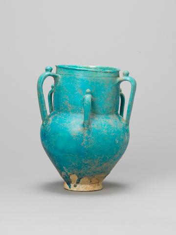 A monochrome pottery Vase Persia, 12th/13th Century