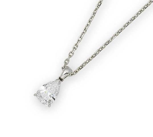 A diamond pendant, by Van Cleef & Arpels