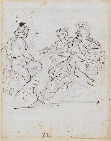 Pietro Dandini (Florence 1646-1712) Three Classical Figures 181 x 142 mm unframed