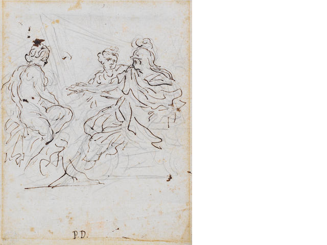 Pietro Dandini (Florence 1646-1712) Three Classical Figures 181 x 142 mm. unframed