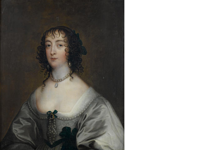 After Sir Anthony van Dyck, 18th Century Portrait of Elizabeth, Countess of Peterborough,