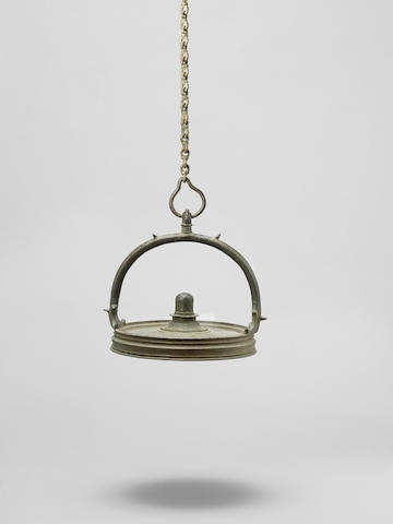 A brass Oil Hanging Lamp Kerala, Southern India, 18th Century