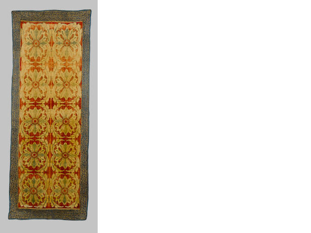 A large voided velvet Panel Provincial Ottoman or Persia, 19th Century