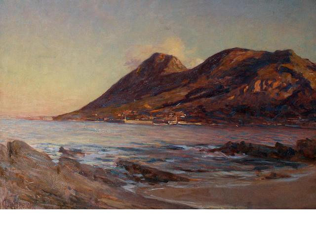 George Crosland Robinson (South African, 1858-1930) Table Mountain