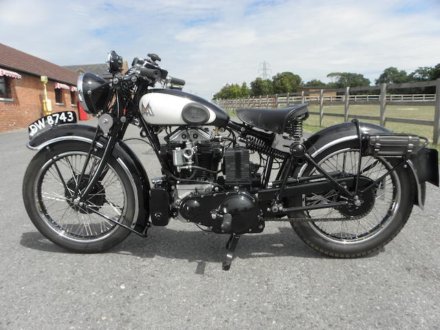 1934 Matchless Silver Hawk Frame no. 982 Engine no. TBC