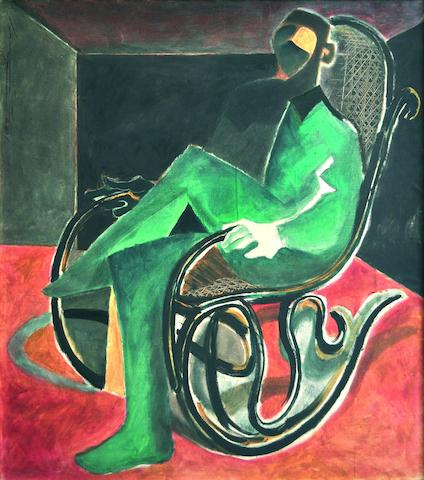 (n/a) Ahmed Moustafa (Egyptian, born 1943) Man in a Rocking Chair,