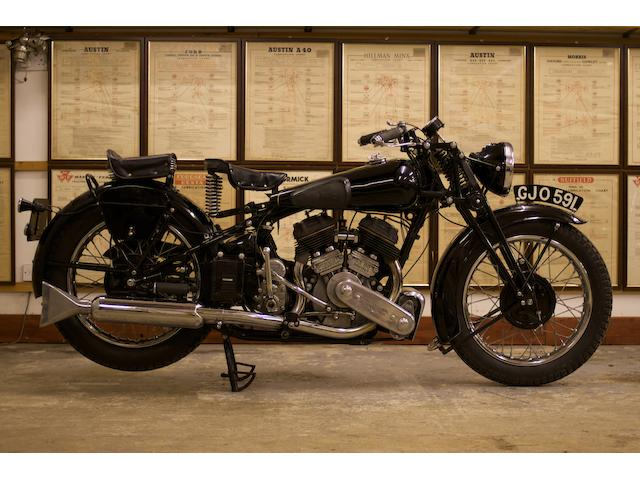 1939 Brough Superior SS80 Frame no. 2092 Engine no. 4751