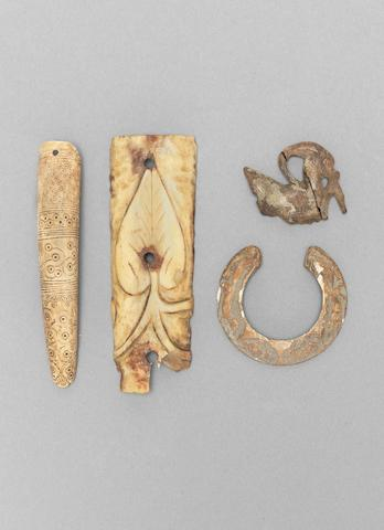 A group of Umayyad carved bone Fragments Syria or Mesopotamia, 8th - 11th Centuries(9)