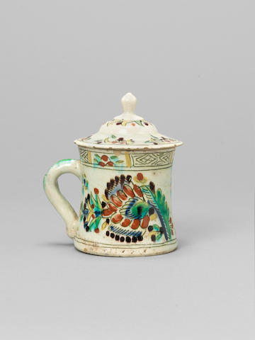A Kutahya pottery Mug and Cover Turkey, 19th Century(2)