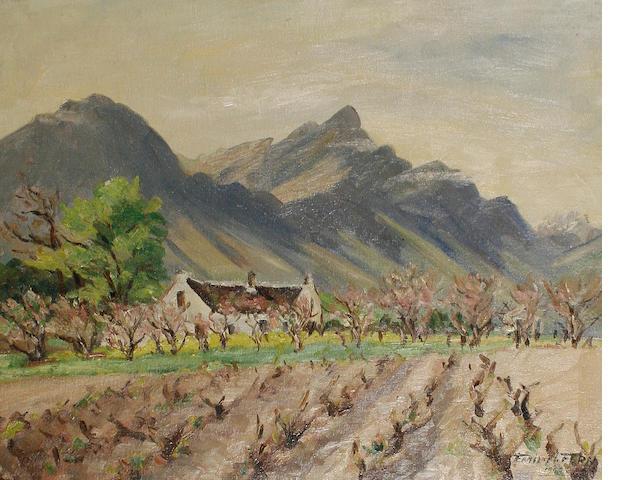 Emily Fern - Witleg Farm, Tulback, oil on panel