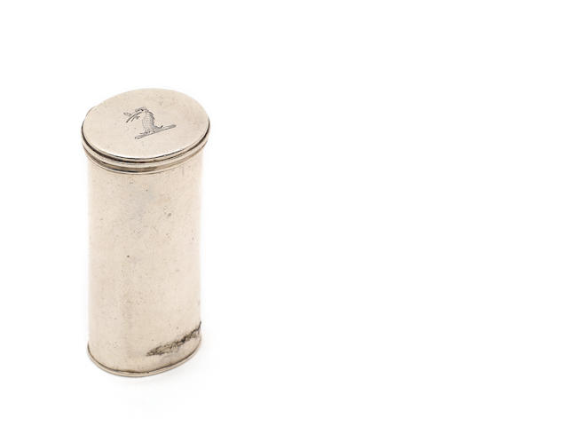 A George III  silver nutmeg grater, by Phipps, Phipps & Robinson, no town mark, London 1815,