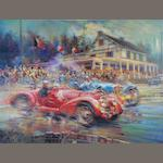 'Spa Francorchamps' limited edition Giclee print after Alfredo De La Maria,