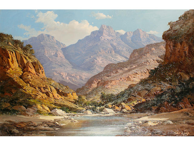 Painting of Michells Pass by Gabriel de Jongh/South African sale attn Giles Peppiatt