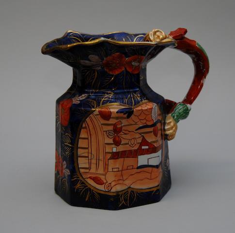 A 19th century Mason's Ironstone octagonal jug