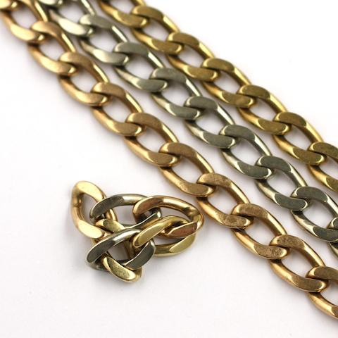 A suite of curb-link jewellery