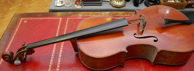 An uncased cello
