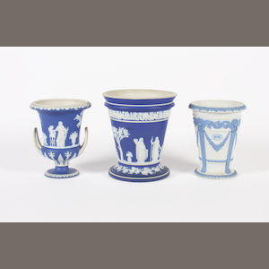 Three Wedgwood vases  19th Century.