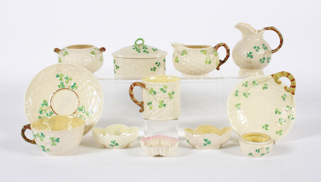 A group of Belleek items 19th and 20th century