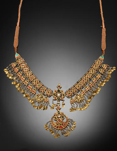 An Indian gem-set gold Necklace
