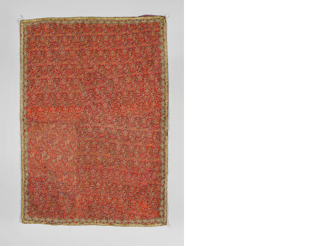 Three woven wool termeh Panels Persia, 19th Century(3)