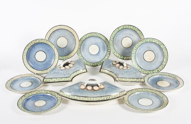 A Swansea creamware part supper set Circa 1800