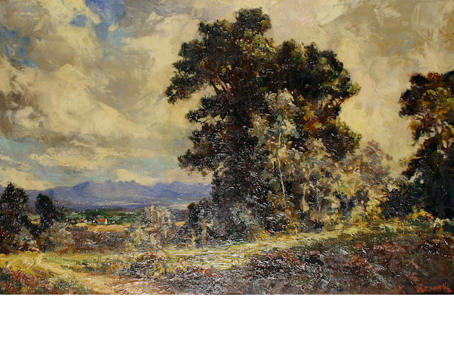 Edward Roworth (South African, 1880-1964) Wynberg, oil