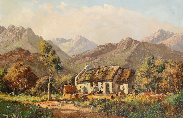 Marthinus (Tinus) Johannes de Jongh (South African, 1885-1942) Cape cottage
