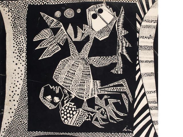 Suzanne Wenger (Austrian, died 2009) Iwin series print