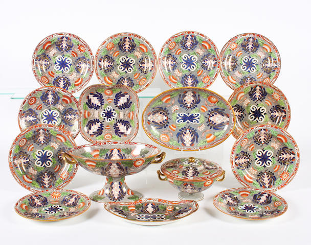 A Wedgwood pearlware part dessert service Circa 1810.