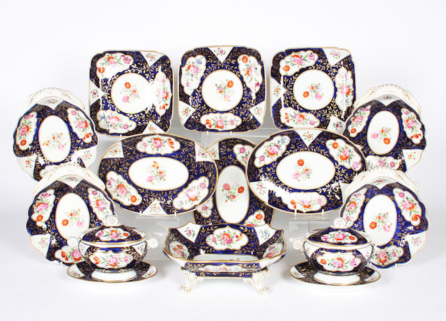A Coalport part dessert service 19th century