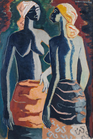 Maurice Charles Louis van Essche (South African, 1906-1977) Two African beauties