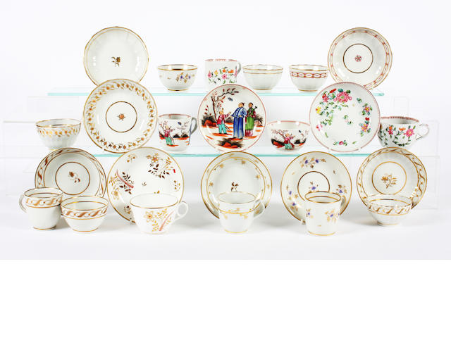 A group of Newhall porcelain Circa 1780-1820.