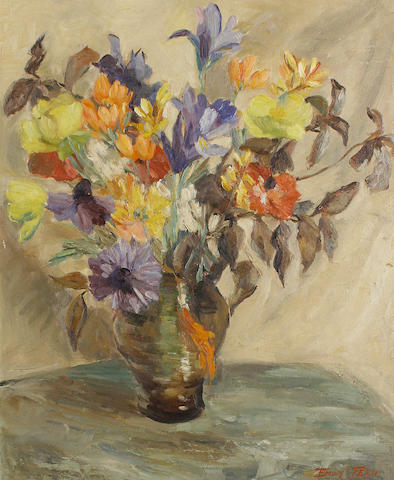 Emily I. Fern (South African, 1881-1953) Still life of flowers in a vase