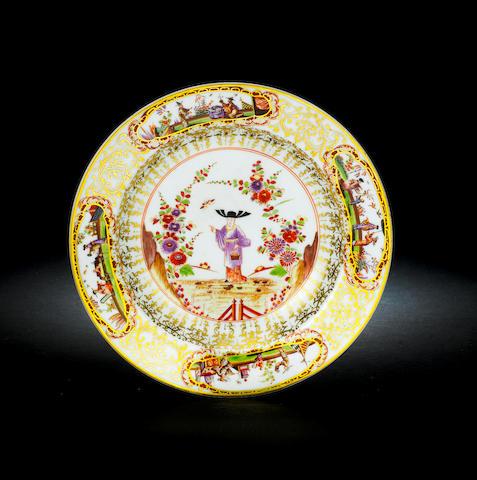An important Meissen circular stand circa 1725-30