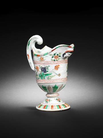 A famille verte helmet-shaped ewer Kangxi