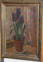 Henry Lamb (British, 1883-1960) Still life of potted hyacinths on a window sill