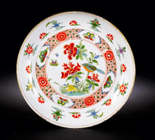 A rare Meissen circular dish circa 1735
