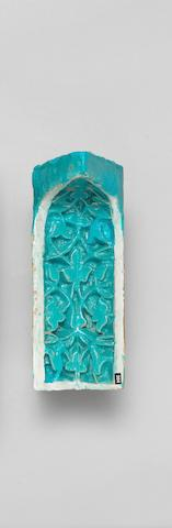 A small Timurid monochrome moulded pottery Niche Tile (muqarna) Persia, second half of 14th Century