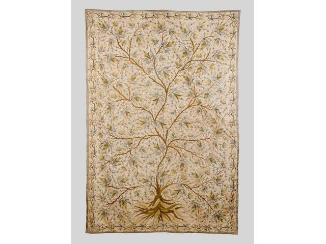 An Ottoman embroidered silk Panel Turkey, 18th Century