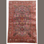 A silk Kashan prayer rug Central Persia, 6 ft 8 in x 4 ft 4 in (204 x 132 cm)