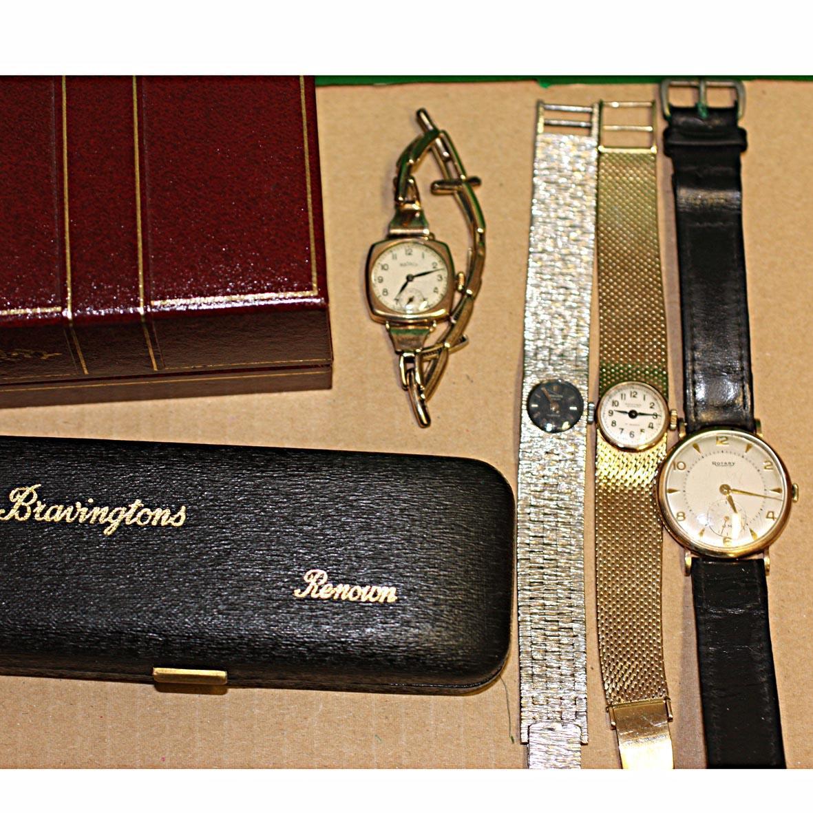 Rotary: A gentleman's 9ct gold wristwatch (4)