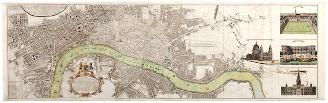 LONDON HOMANN'S HEIRS. Urbium Londini et West-Monasterii nec non suburbii Southwark