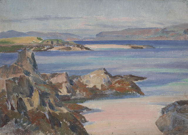 William Mervyn Glass (1885-1965) Loch Na Keal, Iona
