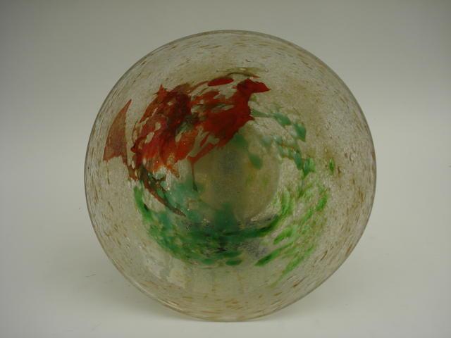 A Monart glass bowl, 1930s