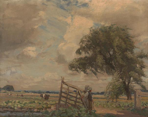 Hilda Fearon (British, 1878-1917) At the farm gate