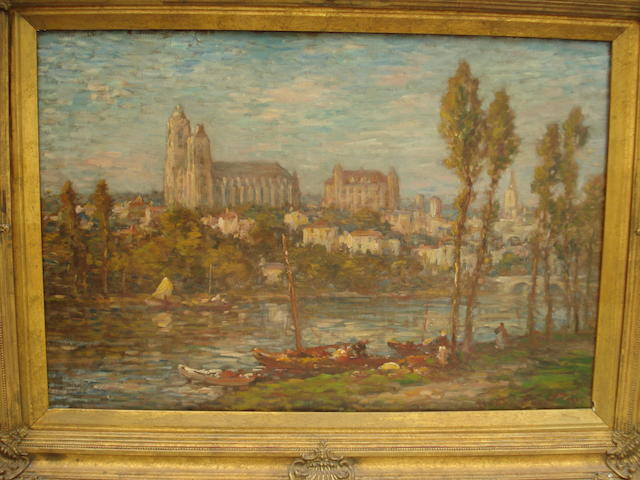 After Claude Monet View of a French Town
