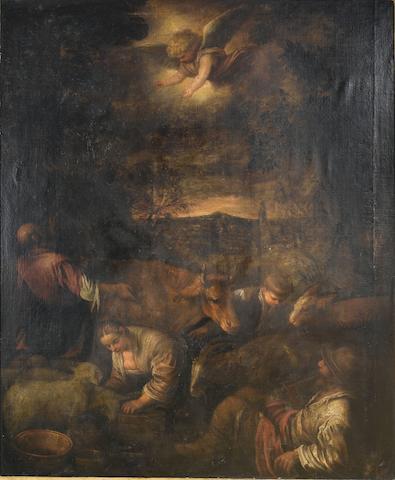 Circle of Leandro da Ponte, called Leandro Bassano (Bassano 1557-1622 Venice) The Annunciation to the Shepherds