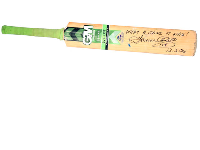 2006 Herschelle Gibbs 'Greatest Game' ODI cricket bat